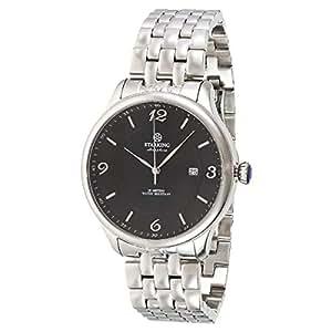 Starking Men's Black Dial Stainless Steel Band Watch - BM0880SS12