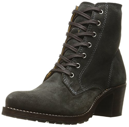 FRYE Women's Sabrina 6G LACE UP Boot, Charcoal, 7.5 M US ()