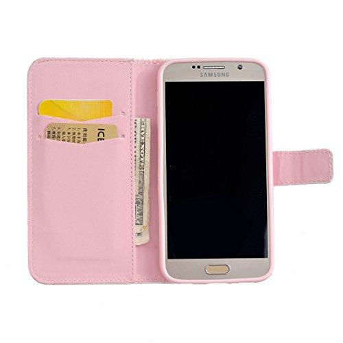 Soporte V S6 Lyzwn para Cover Carcasa Samsung Magntico Galaxy Cuero Flip Funda S6 de Wallet Funda Incorporado PU Samsung 1 Case Billetera Galaxy con Funcin Cierre Caso 4wUrqE4