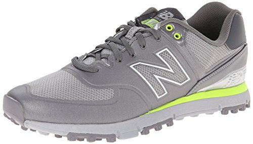 New Balance Men's NBG574B Spikeless Golf Shoe, Grey/Yellow, 13 D US