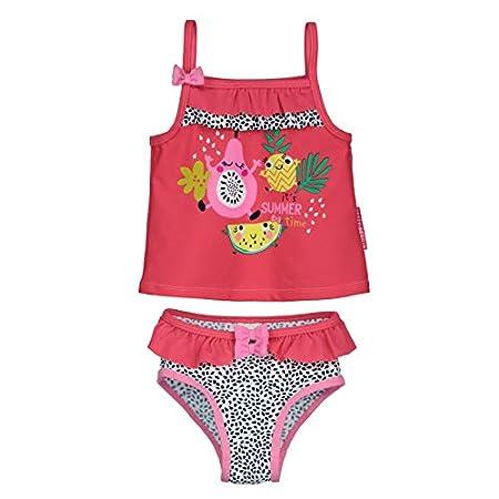 Petit Béguin - Maillot de bain 2 pièces top + slip bébé fille Fruity Party - Taille - 6 mois (68 cm)