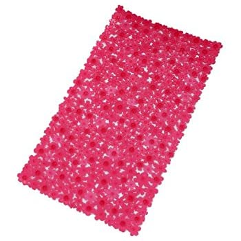 durable service Extra Long Cushioned Bathtub Mat, Pink