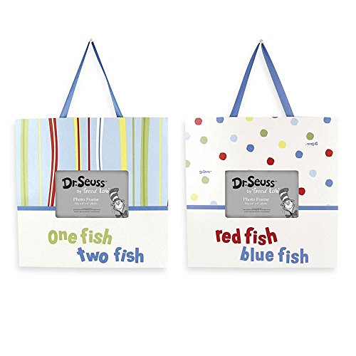 Trend Lab Dr. Seuss Frame Set, One Fish Two Fish (2 - pack)