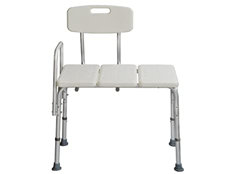 TMS Adjustable Transfer Bench Chair Wheelchair to Bath Tub Medical Health Shower Bath Seat Stool W/hand Rail
