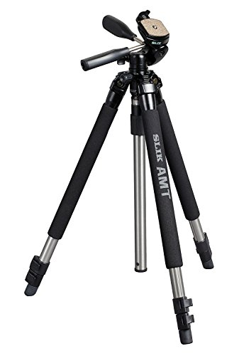 SLIK Pro 330DX Tripod with 3-Way Pan/Tilt Head (Quick Release) - Supports 6.63 lb (3.01 kg), Silver ( 613-330 )