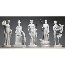 5 Gods Figure Statue Sculpture Zeus Poseidon Athena Apollo Hera 6.3΄΄- 6.7΄΄