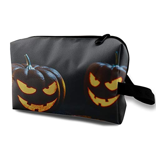 Pumpkin Evil Halloween Mask Multi-function Travel Makeup Toiletry Coin Bag Case