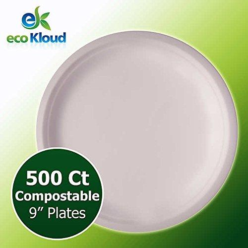 Eco Kloud 9'' Compostable Plate, 500-cnt.