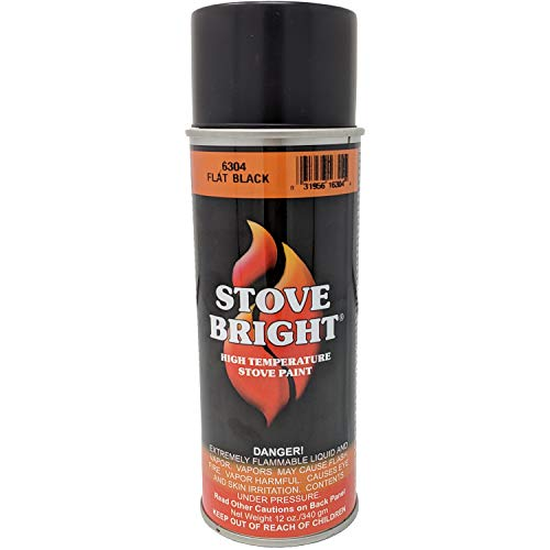 Black Stove - Stove Bright 6304 Stove Bright High Temperature Flat Black Stove Paint