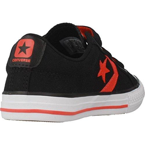 Converse Star Player Ev 3v OX Black/Gym Red/White, Zapatillas Unisex Niños Negro