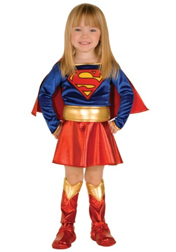 Heroes Cheerleader Costume Halloween (Super DC Heroes Supergirl Toddler Costume, (Size 2-4))