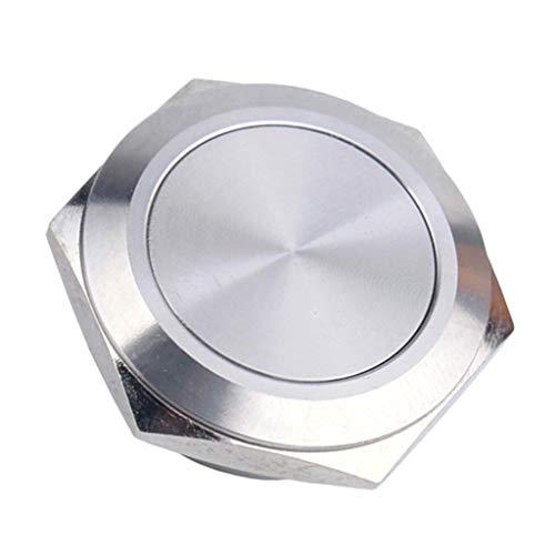 ラッチプッシュボタンスイッチ1NO ON / OFFシルバーステンレスシェル25mm