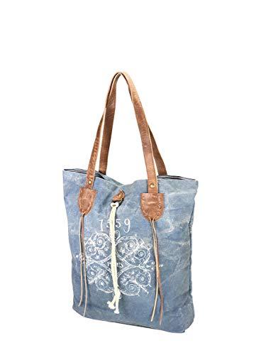 al azul Azul Bolso alessandro collezione hombro Talla para de única Lona mujer wxq4zE87nz