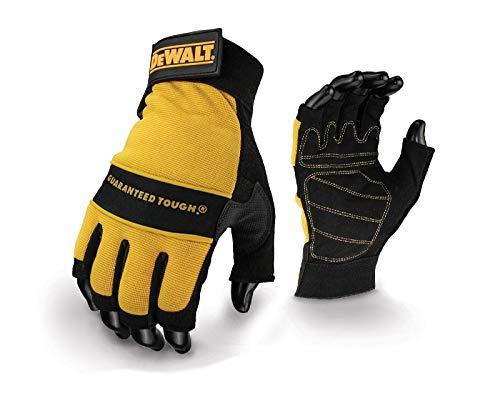 Dewalt - 1/2 Synthetic Padded Leather Palm Gloves (Leather Dewalt Glove Palm)