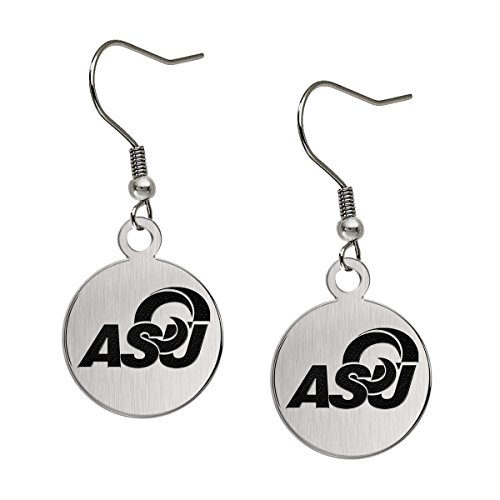 (Angelo State Rams Satin Finish Stainless Steel Disc Earrings)