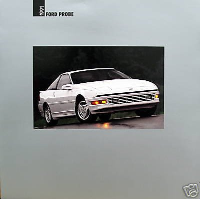 - 1991 FORD PROBE GL, LX GT PRESTIGE VINTAGE COLOR SALES BROCHURE - 8/90 - USA - EXCELLENT ORIGINAL !!