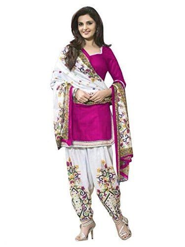03f176a13c MAHAVIR FASHION Women's Poly Cotton Printed Salwar Kameez Patiala Suit  Dress Material.: Amazon.in: Clothing & Accessories
