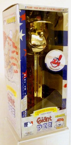 (Pez Gold Plated Charlie Brown Cleveland Indians - Limited Edition Giant Dispenser)