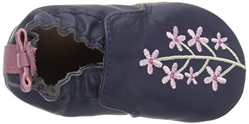 Robeez Girls' Bluebell Crib Shoe, Bluebell Navy, 6-12 Months M US Infant