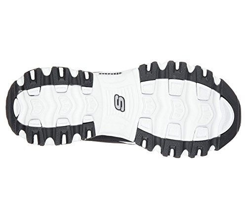 Skechers Sport Mujeres Dlite Slip-on Mule Sneaker Set En Stone Black / White