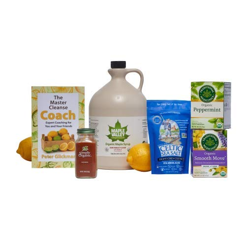 Maple Valley 16 Day Organic Master Cleanse Lemonade Detox/Kit with Peter Glickman Master Cleanse Coach Book