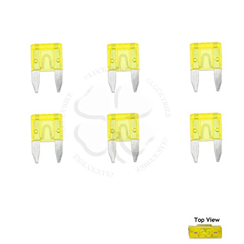 Electrical - Fuses - Mini APM/ATM A4 Blade Type - 20 Amp - Set of 6