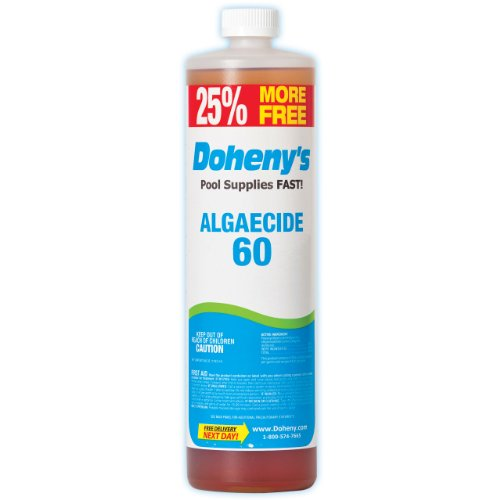 Doheny's Concentrated Pool Algaecide 60 1-Quart Plus 8 Bonus Ounces Bottle (Best Algaecide For Gunite Pools)