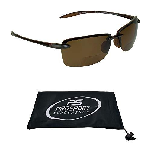 Polarized Bifocal Reading Sunglasses   Fishing Golf  Men & Women   Modern Sporty Light & ()