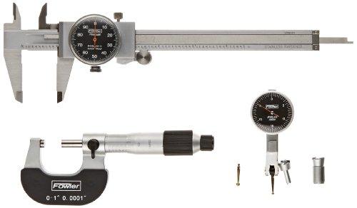 Fowler 52-229-770 Black Face Measuring Set, 0.001
