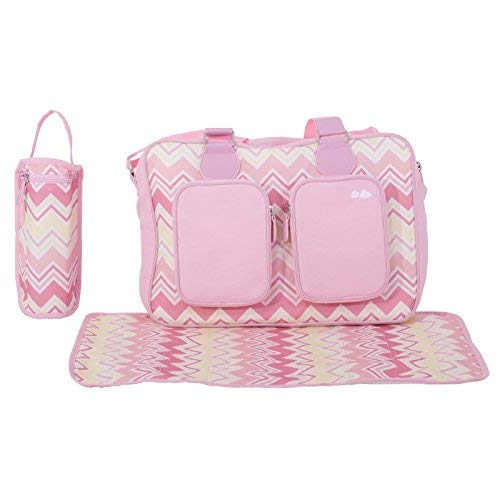 My Babiie Samantha Faiers Dreamiie Pink Chevron Luxury Changing Bag