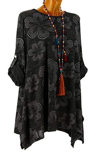 asymtrique Grande DOENA Hiver Charleselie94 Noir Taille Noir Noir Tunique zITyxq4