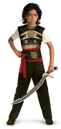 [Dastan Classic Costume, Child M(7-8)] (Prince Of Persia Tamina Costumes)