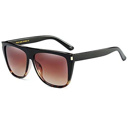 Turismo de Gafas Oversized sol Mujer compras Marrón Gafas de sol UV400 Aviador f8a1OT