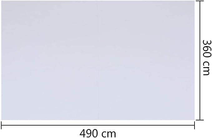 vidaXL Pool Bodenplane Bodenschutzplane Poolunterlage Bodenschutz Unterlegplane Schutzplane Poolmatte Bodenmatte Wei/ß 490x360cm Geotextil