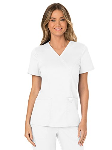 Scrub Top Nurse - Cherokee WW Revolution WW610 Mock Wrap Top White L