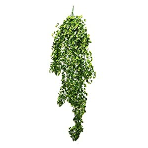 SHACOS 24 Strands Artificial Greenery Garland,Fake Vine Leaves Décor English Ivy Plants for Wedding Party Home Indoor Outdoor Decorations 4