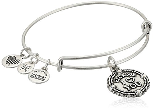Alex and Ani Womens Because I Love You III Bangle