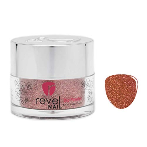 (Revel Nail Dip Powder | for Manicures | Nail Polish Alternative | Non-Toxic & Odor-Free | Crack & Chip Resistant | Can Last Up to 8 Weeks | 0.5 oz Jar | Glitter (Victoria, 0.5oz))