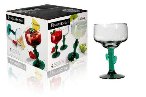 Libbey Cozumel Glassware Set: Cactus Margarita, 4 Piece