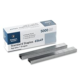 Wholesale CASE of 25 - Bus. Source Chisel Point Standard Staples-Standard Staples,Chisel Point,1/2\