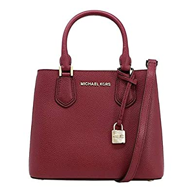 Image Unavailable. Image not available for. Color  Michael Kors Adele  Leather Messenger Bag Mulberry Ballet 19703e5d174c6