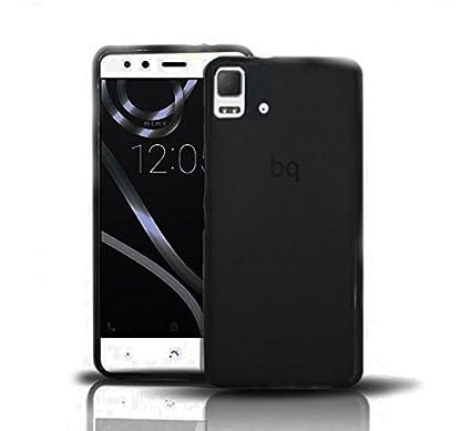 e56d78b8e40 Funda Gel Lisa NEGRA para BQ AQUARIS E5 HD FHD: Amazon.es: Electrónica