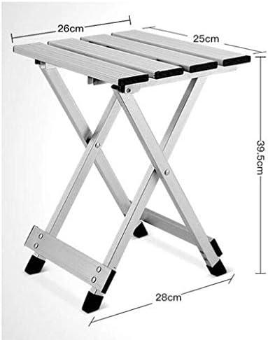 GQQ Chaise de Bureau, Chaise Pliante En Aluminium Chaise de Plage Tabouret de Loisirs Portable Facile À Croquis Extérieur (29 * 25 * 39Cm) Chaise Pliante