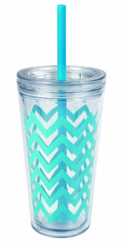 copco-2510-0433-minimus-chevron-tumbler-with-straw-24-ounce-cyan-blue