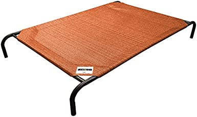 Gale Pacific Coolaroo Elevated Pet Bed with Knitted Fabric, Terracotta, Large