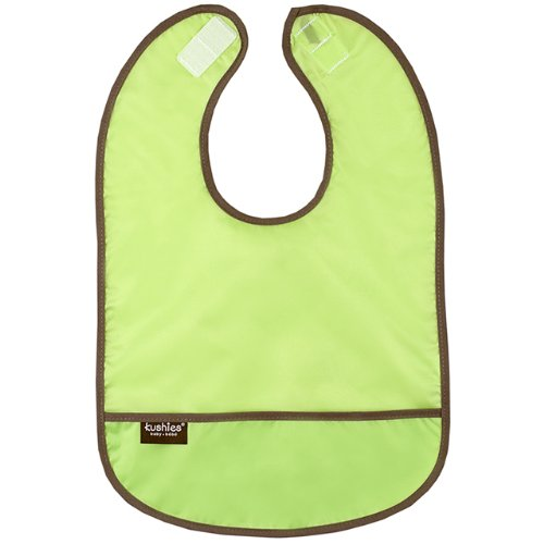 (Kushies Waterproof Taffeta Pocket Bib - Infant (Lime) )