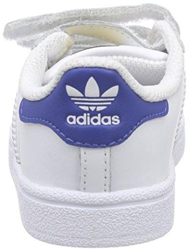 24 Bimbi 0 Blue eqt Adidas Unisex Superstar Cf S16 eqt S16 weiß Scarpine Passi White ftwr Bianco Primi Foundation 8n8zwFq0