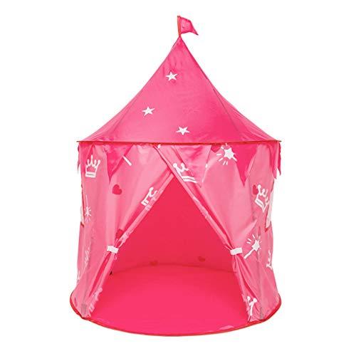 賞賛設置時間子供ノート屋内箱プレイハウス赤ちゃん誕生日ギフト玩具店女性クラウンキャピタルパブリックハウス,Pink,135 * 150CM