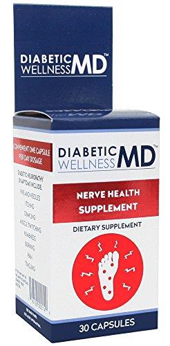 Bienestar diabética Md nervio salud suplemento cápsulas del Dr. Blaine, cuenta 30