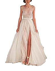Fanciest Women S Split 2016 Beach Wedding Dresses Boho Wedding Gowns Ivory Us2